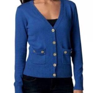 CAbi blue Cadet cardigan style 668